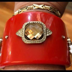 Cachet Rhinestone encrusted wide bracelet stunning